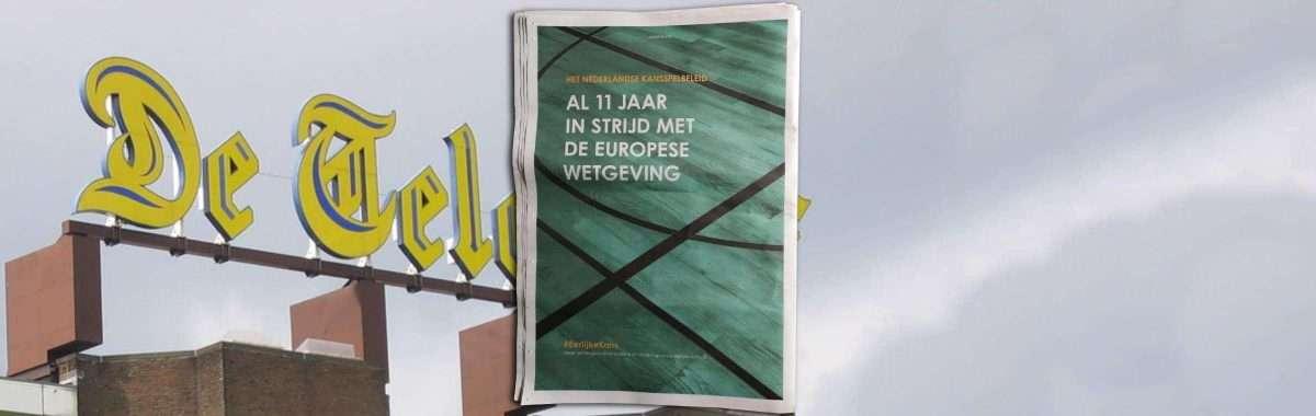 Betsson plaatst advertentie in De Telegraaf (bron OCB)