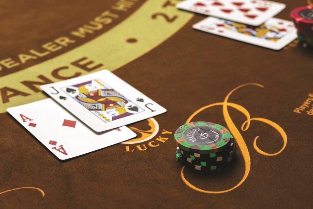Bellagio Las Vegas blackjack (bron: https://newsroom.mgmresorts.com/bellagio/photos/gaming/)