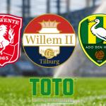 TOTO FC Utrecht, FC Twente, Willem II, ADO Den Haag, Sparta, Eredivisie