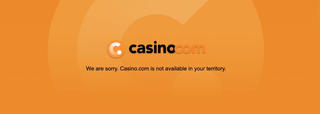 Casino.com is sinds halverwege 2018 niet meer bereikbaar voor Nederlandse spelers.