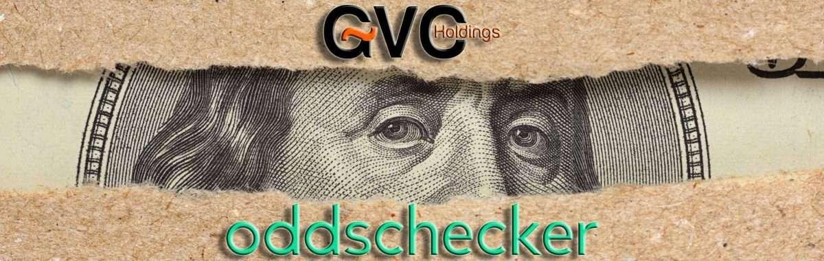 GVC en Oddschecker werken niet langer samen (bron: https://elements.envato.com/one-hundred-dollar-bill-behind-brown-craft-ripped--A8HBTDM)