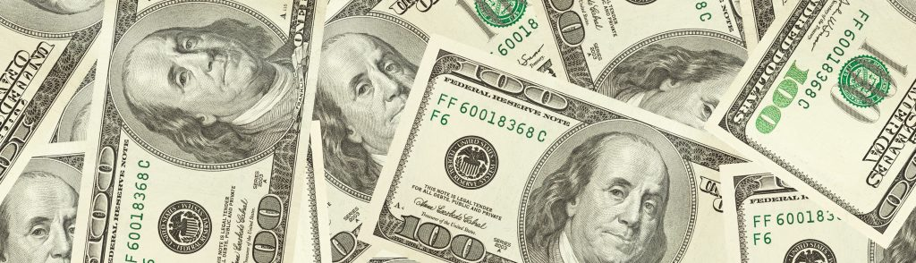 Horizontale geldbanner.