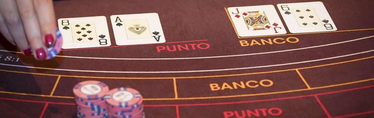 Holland Casino punto banco baccarat Natural 9 voor Punto wint van 6 van Banco