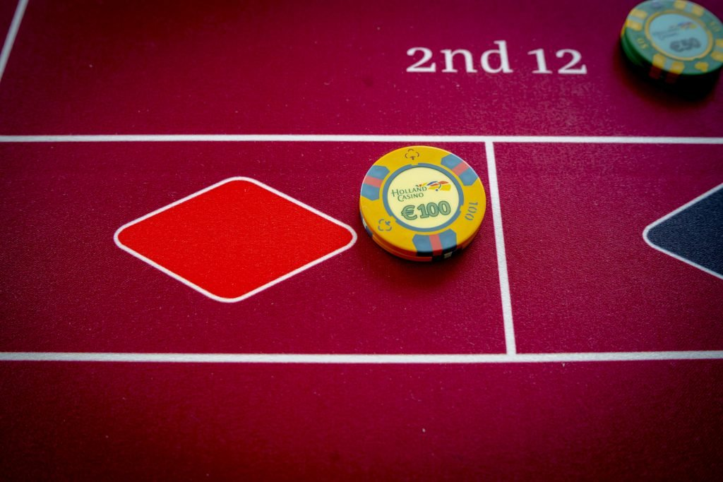 Holland Casino Roulette €100 op rood rouge