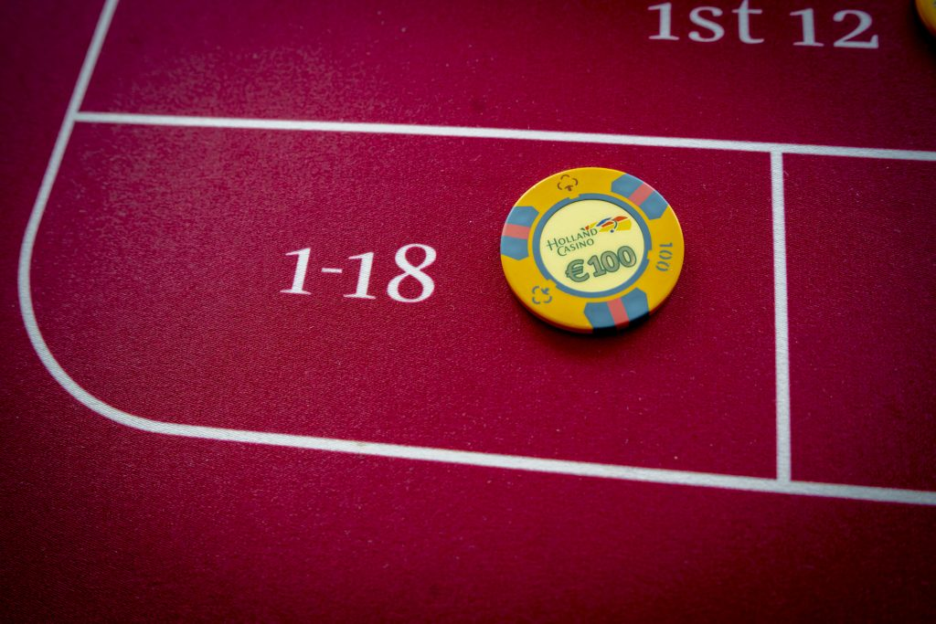 Holland Casino Roulette 1-18 inzet manque low