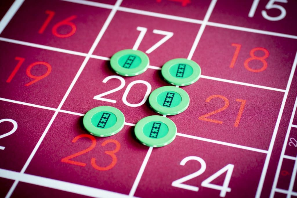 Holland Casino Roulette basket bet inzet 20