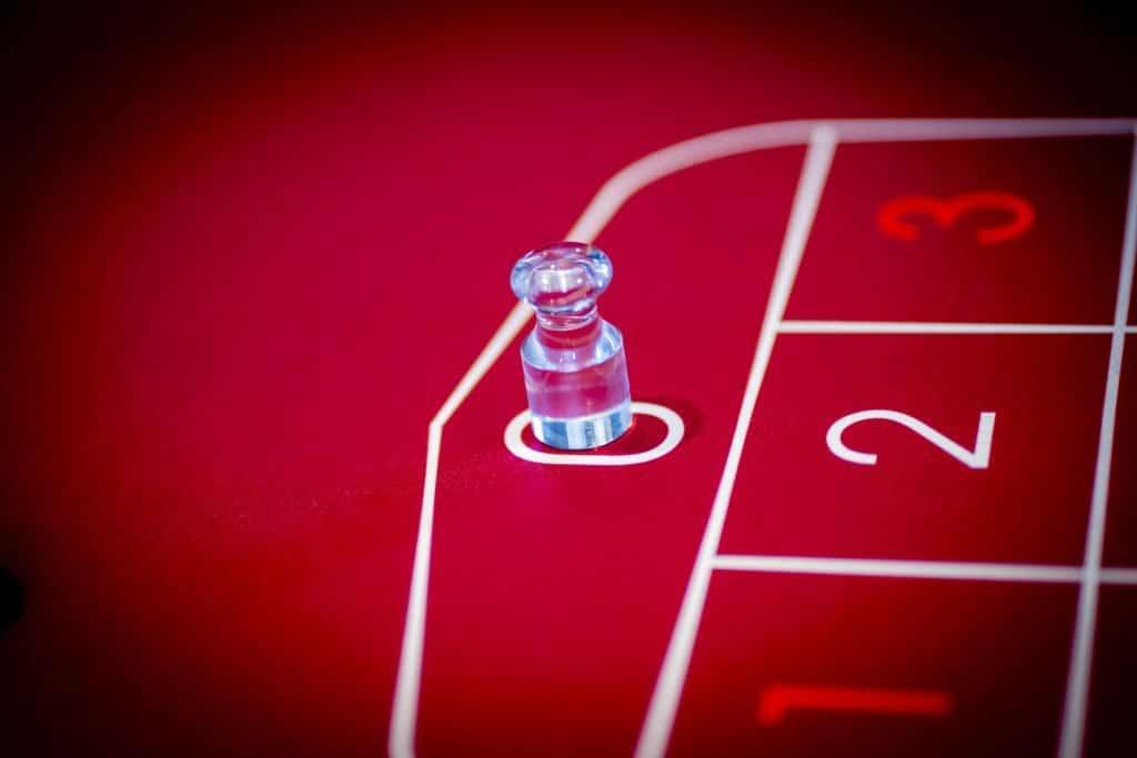 Holland Casino Roulette dolly marker 0 zero