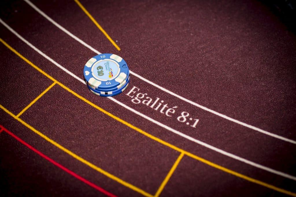 Holland Casino punto banco baccarat chips op egalité €40