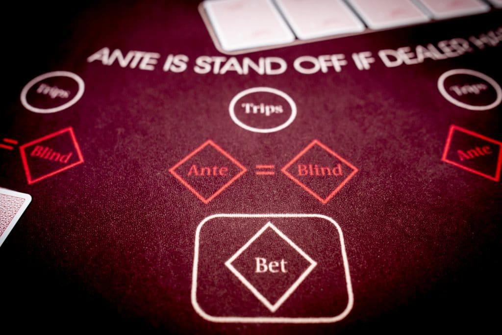 Holland Casino Ultimate Texas Hold'em bet ante blind trips inzetten