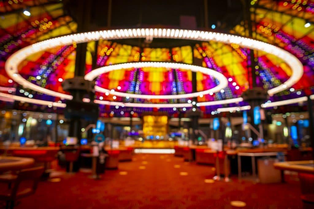 Holland Casino Amsterdam achtergrond (wazig)