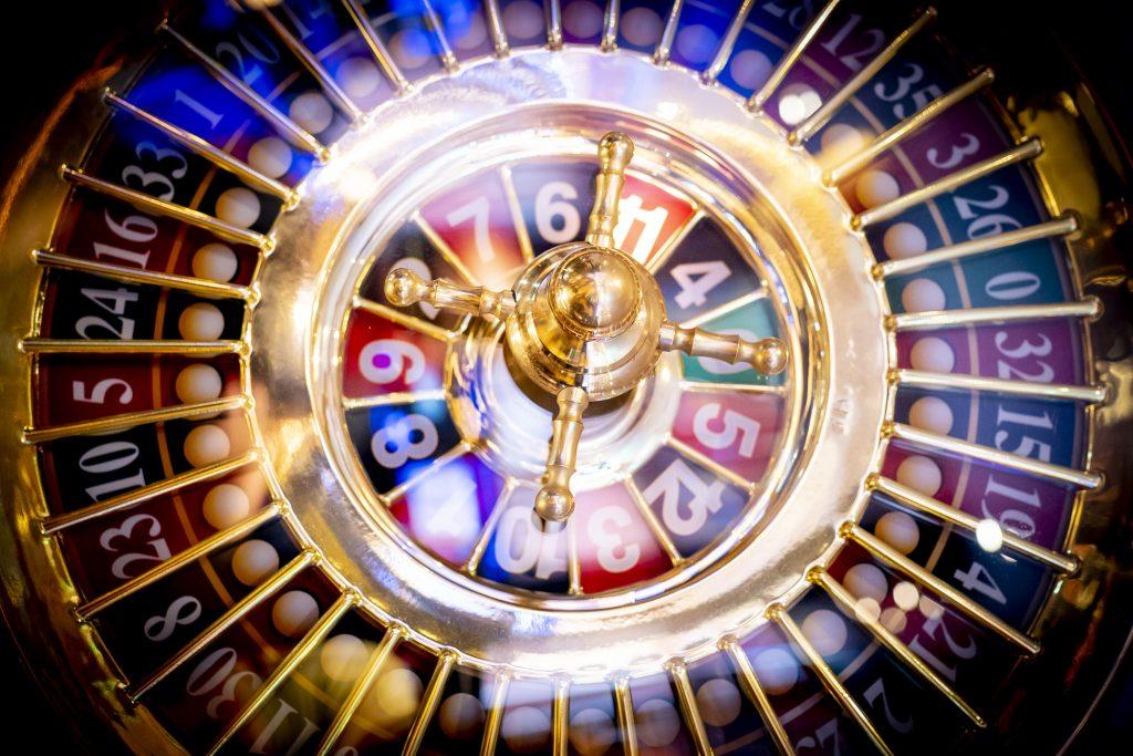 Holland Casino Roulette wiel cilinder kogel balletje (achtergrond)