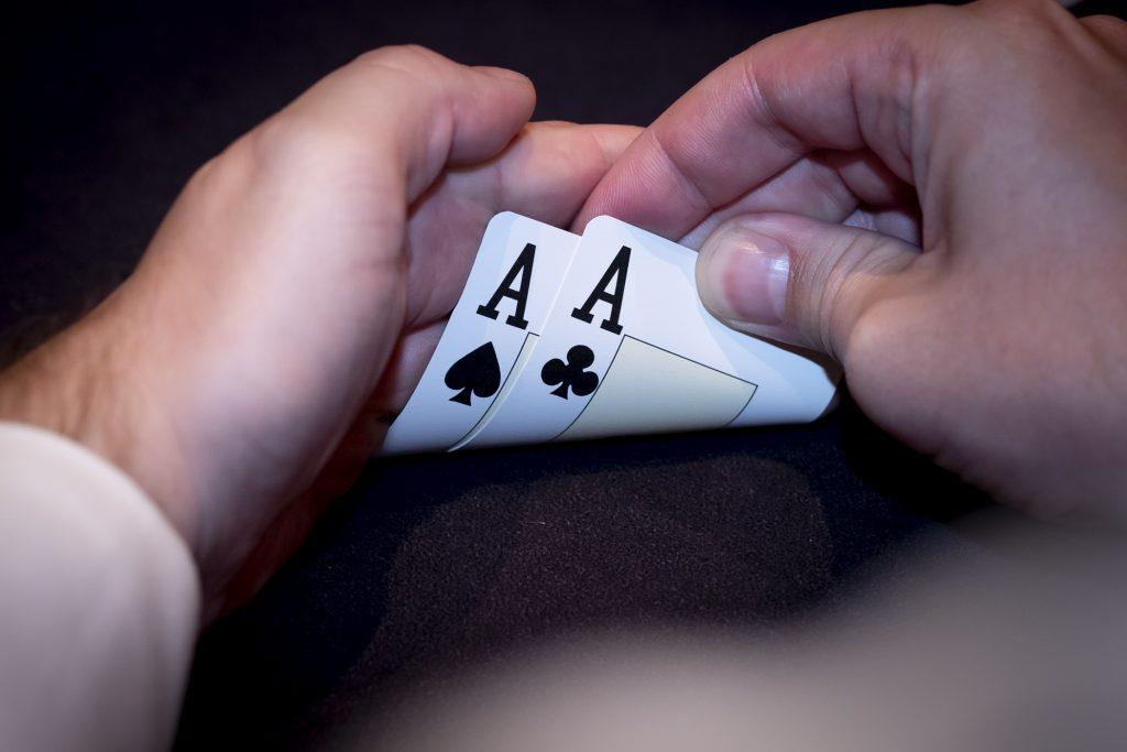 Holland Casino poker pocket azen pocket aces, pocket rockets, zwarte azen, AsAc AA
