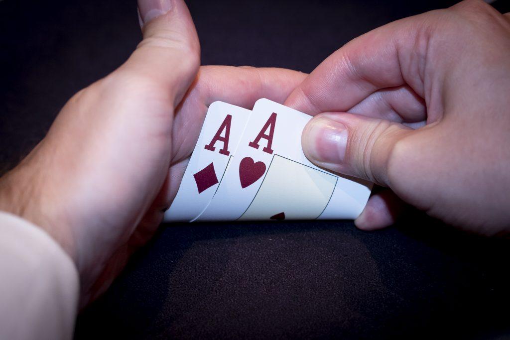 Holland Casino poker pocket aces pocket azen AA rode azen