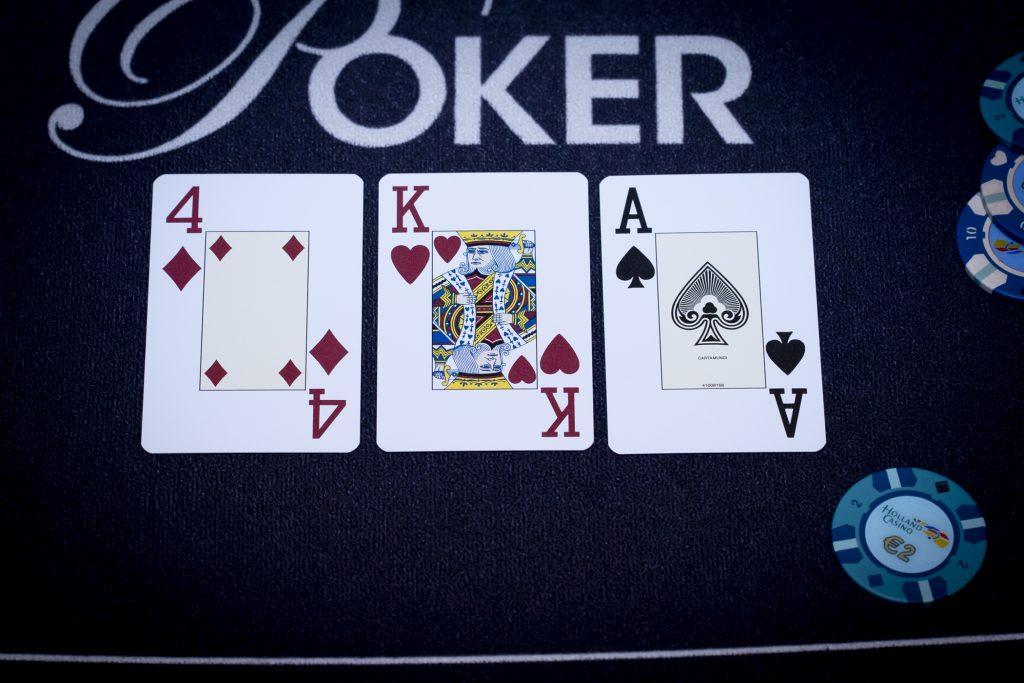 Holland Casino poker AK4 flop