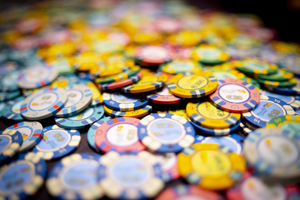 Holland Casino poker chips cashgame chips achtergrond
