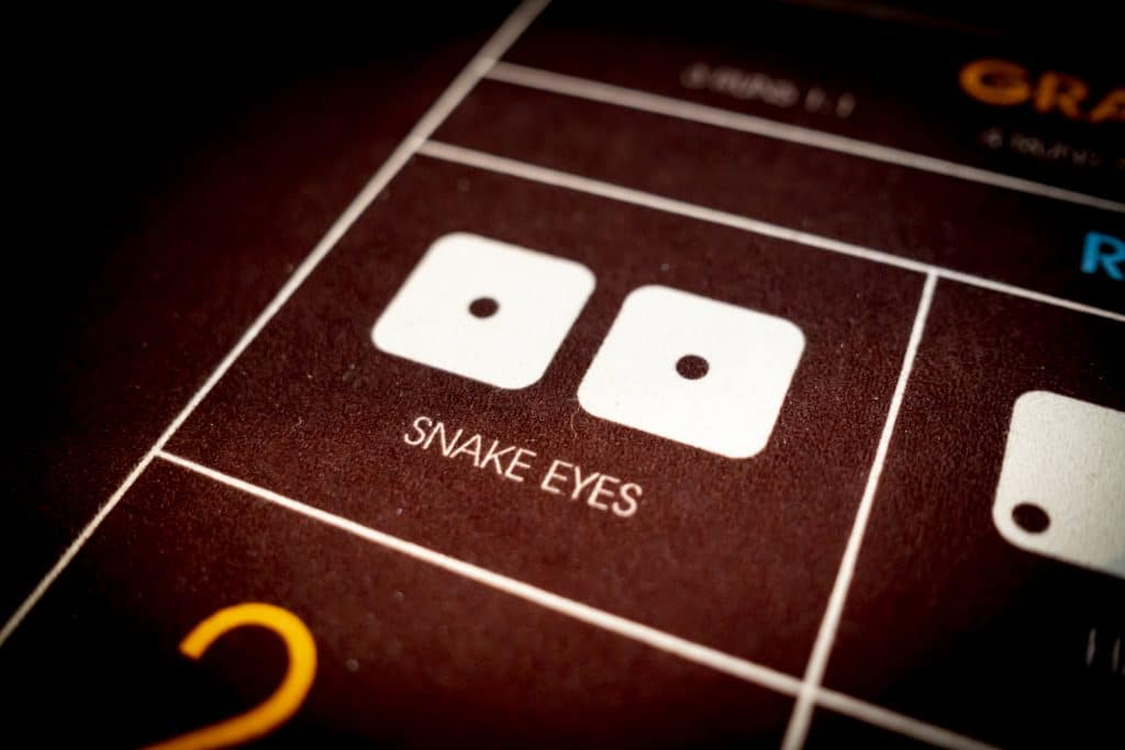 Holland Casino Diceball snake eyes 1 1