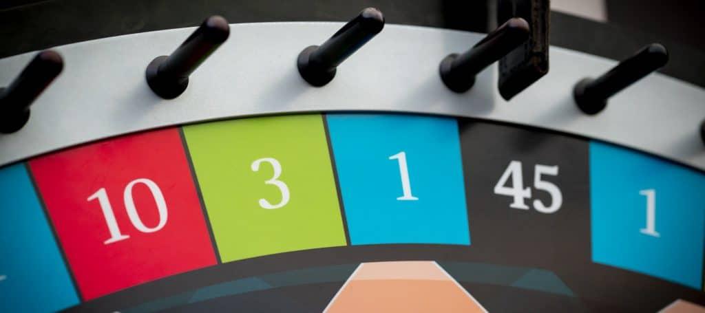 Holland Casino Money Wheel MoneyWheel klepper op 45 zwart