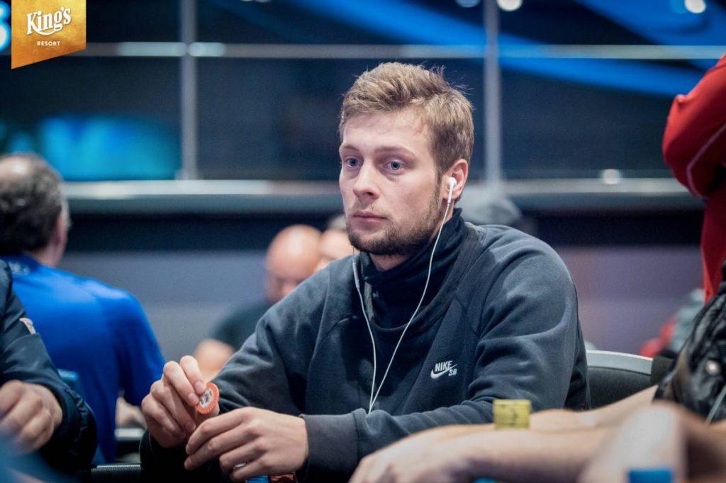 Teun Mulder in Rozvadov tijdens de WSOP Europe.