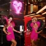 Casinomedewerkers in Las Vegas dragen een mondkapje