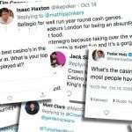 Twitter reageert: favoriete casino's om te pokeren
