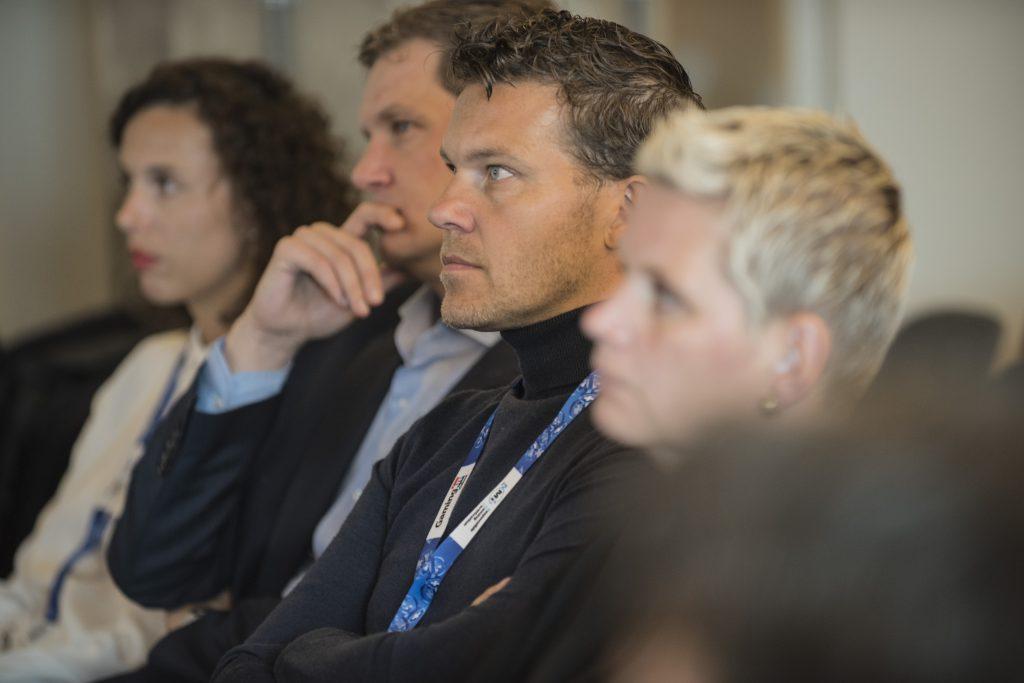 Rolf Slotboom tijdens de Gaming in Holland conferentie in 2015