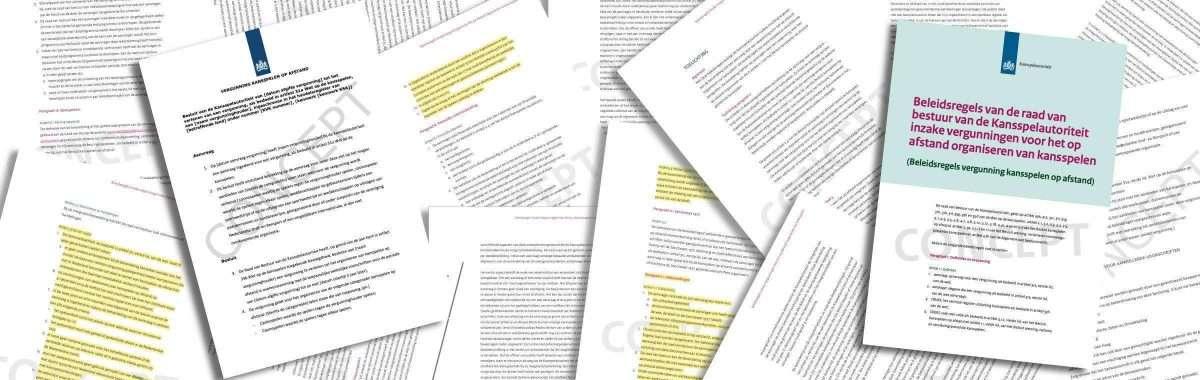 Kansspelautoriteit publiceert concepten Beleidsregels Koa en Modelvergunning