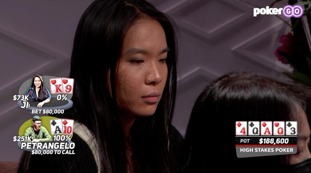 Lynne Ji tegen Nick Petrangelo in High Stakes Poker s08e03