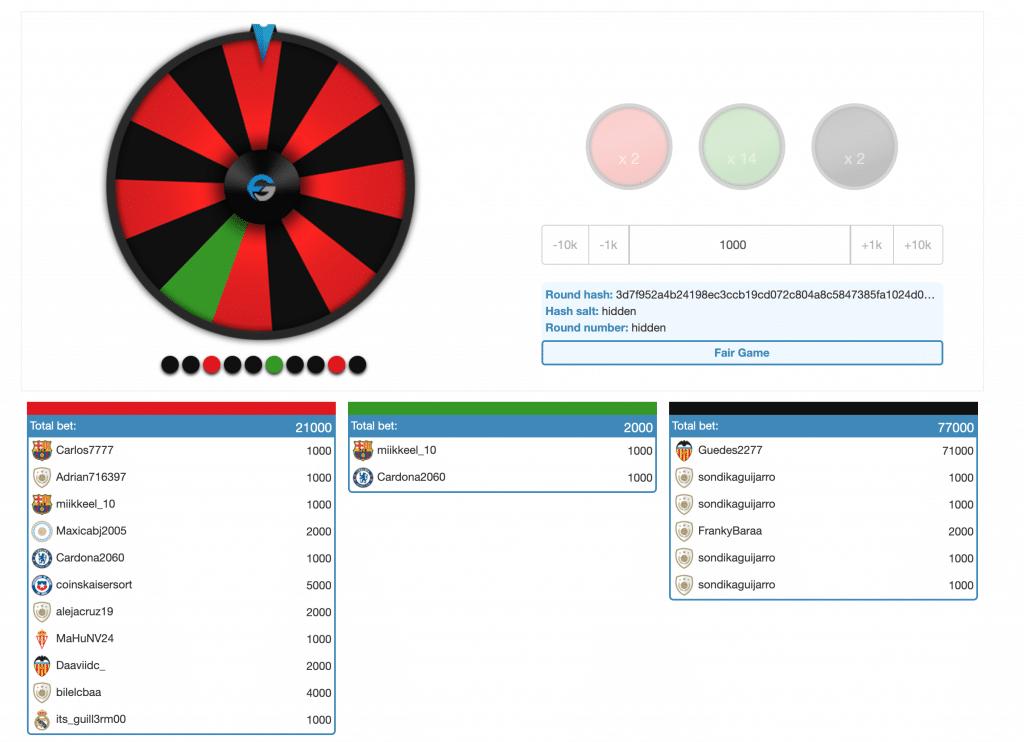 Bin FutGalaxy kon je niet alleen FUT packs kopen, maar ook een Money Wheel spelen.