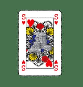 Genderneutraal kaartspel: geen vrouw maar zilver.