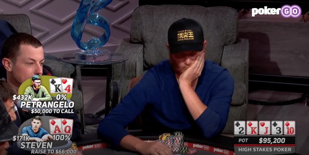 High Stakes Poker s08e05 seizoen 8 aflevering 5 Nick Petrangelo tegen Brandon Steven
