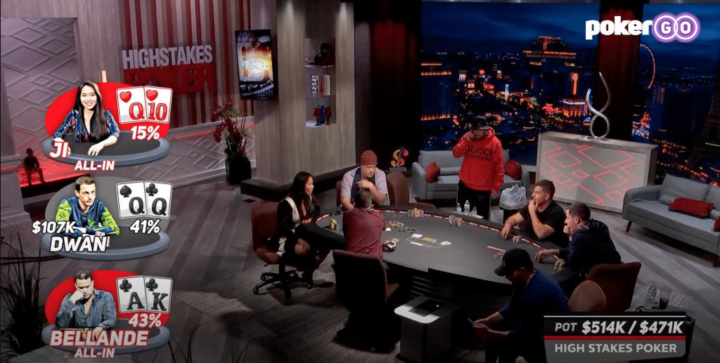 High Stakes Poker s08e05 seizoen 8 aflevering 5 $985.000 pot Lynne Ji, Tom Dwan, Jean-Robert Bellande