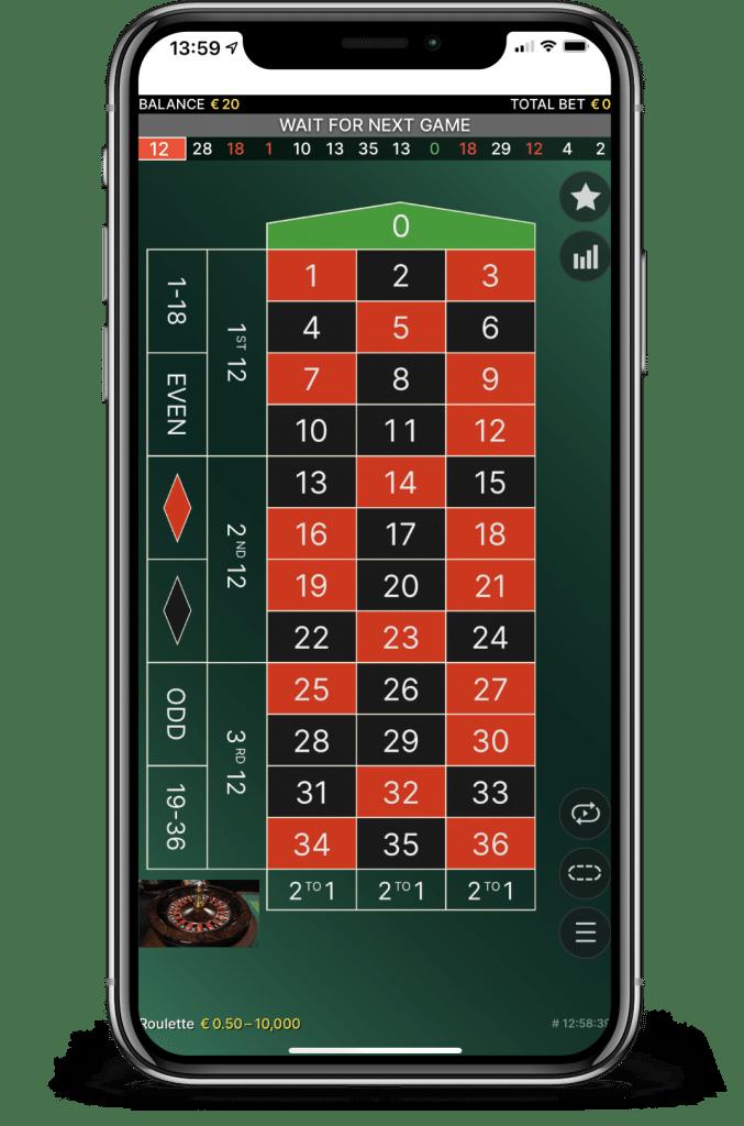 Live Roulette Stap 6 - wacht op de ronde