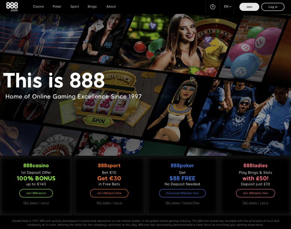 888 homepage