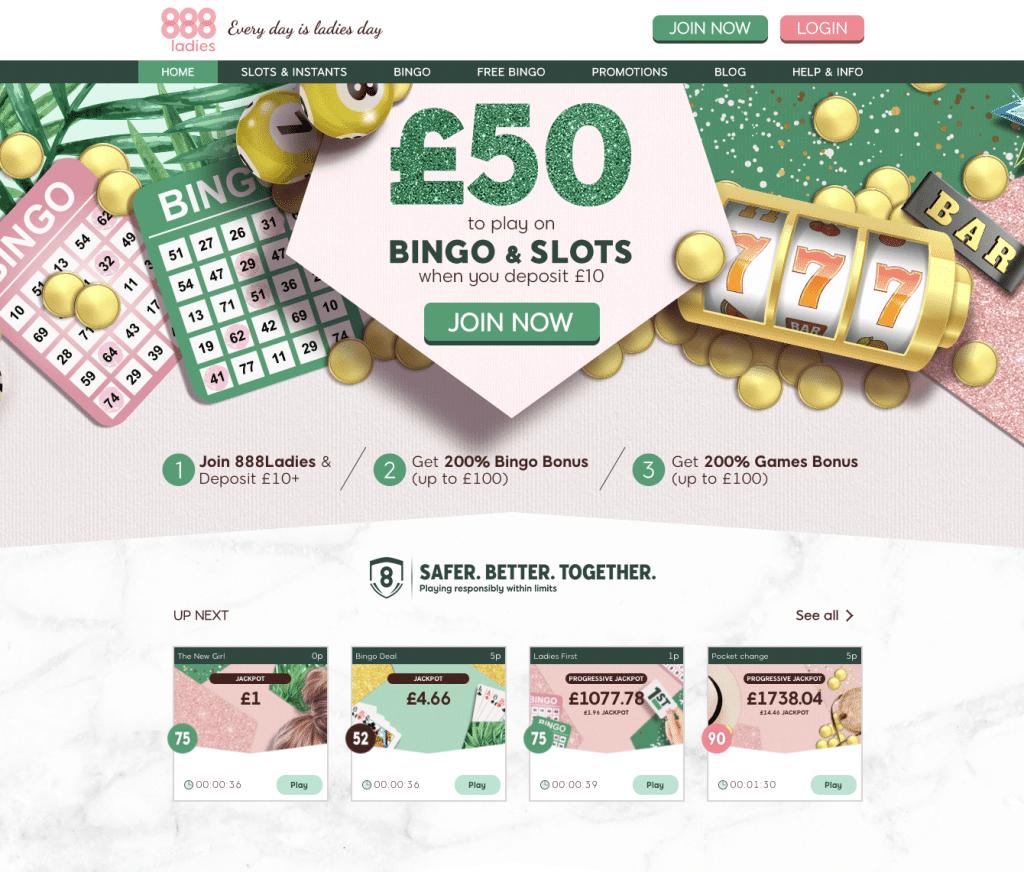Een speciale site voor dames met de focus op bingo