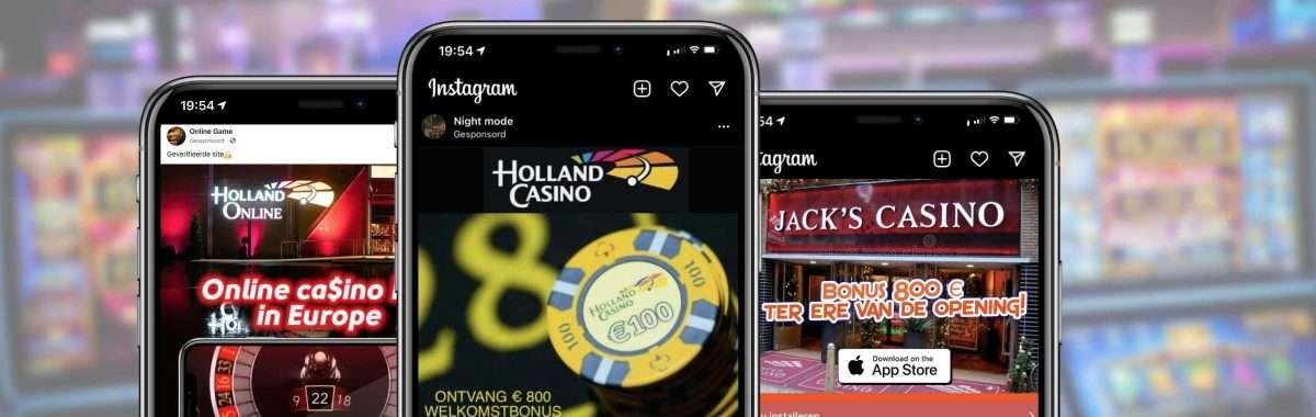 Holland Casino en Jack's Casino beeldmerken misbruikt voor illegale online casino's