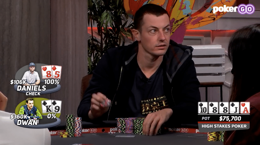Tom Dwan in High Stakes Poker seizoen 8 aflevering 11 (HSP s08e11)