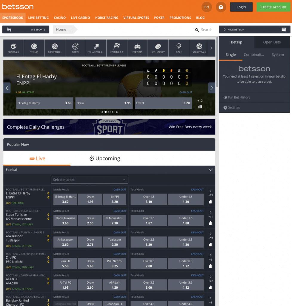 sportsbook homepage