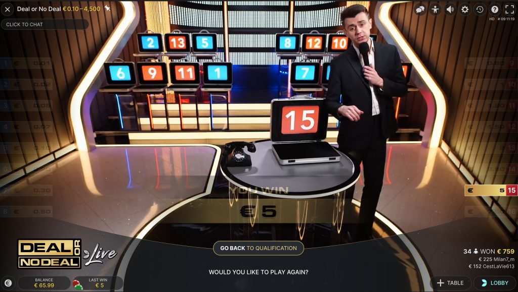 Deal or No Deal Live alle koffers open