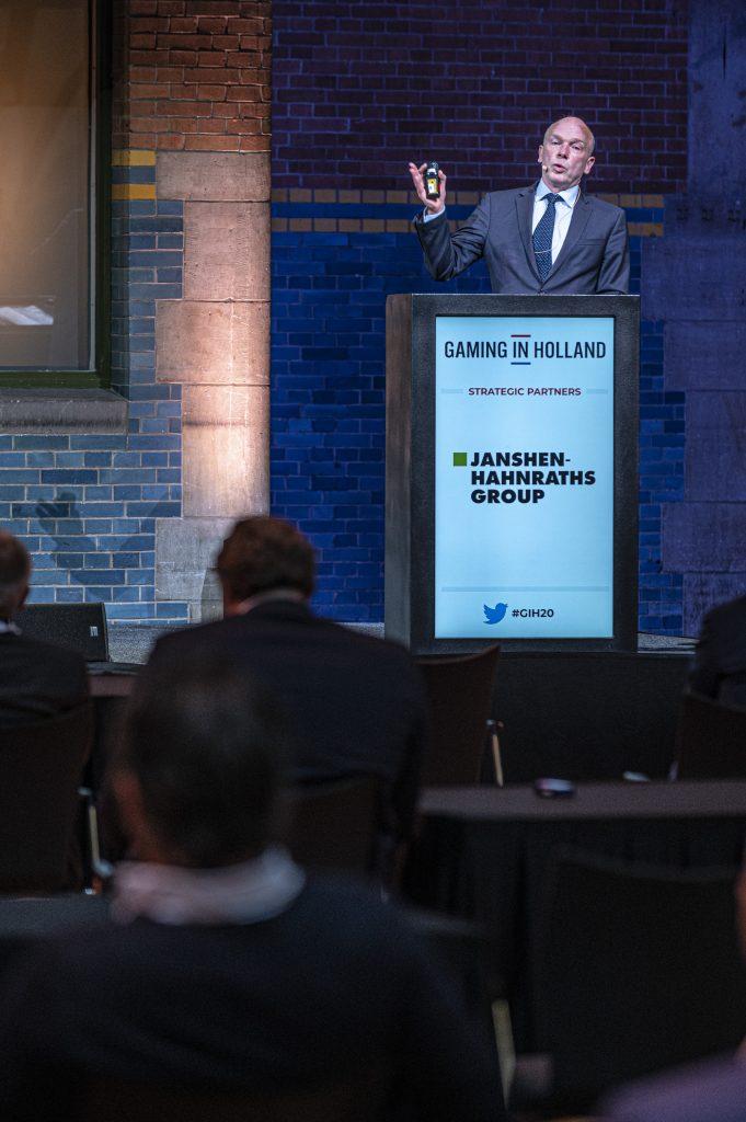 Maarten Haijer (EGBA) tijdens Gaming in Holland 2020