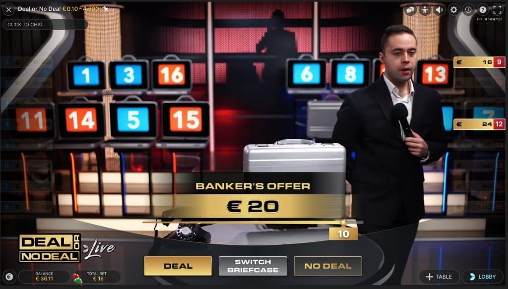 Nog 4 koffers open Deal or No Deal Live