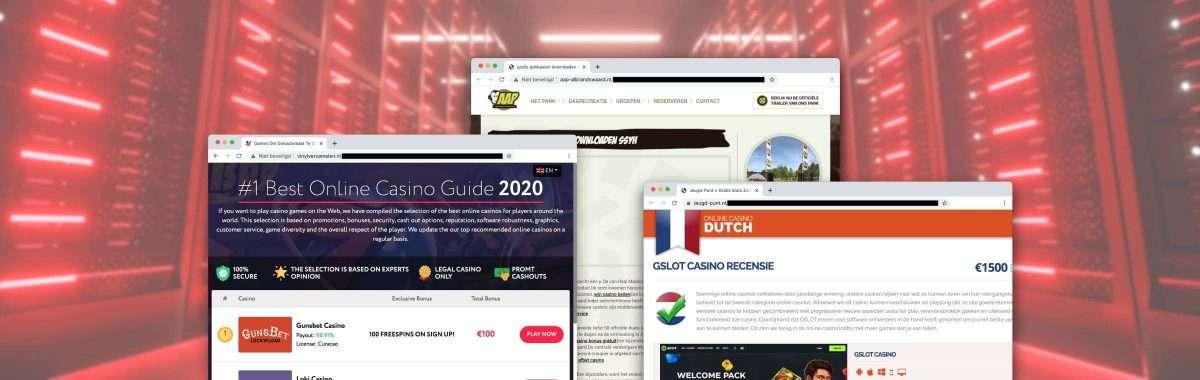 Affiliate hackt Nederlandse sites om links naar online casino's te plaatsen