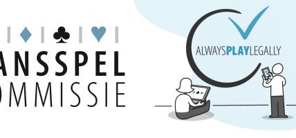 Always Play Legally logo Kansspelcommissie