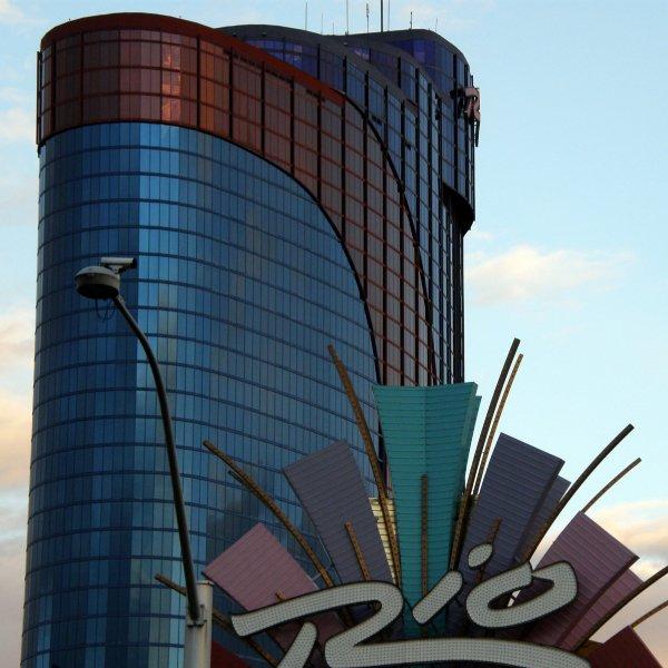 Net achter de strip (off-strip) in Las Vegas: het Rio All-Suite Hotel en Casino.