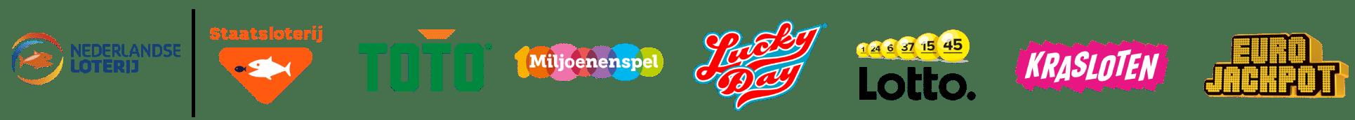 Nederlandse Loterij: Staatsloterij, TOTO, Miljoenenspel, Lucky Day, Lotto, Krasloten, Euro Jackpot
