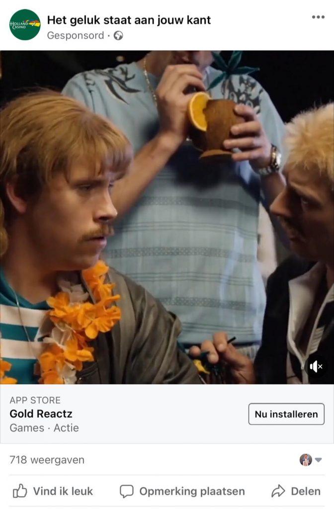 Nepreclame Holland Casino New Kids reclame code facebook