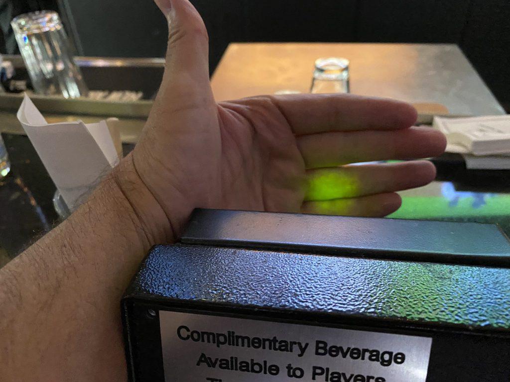 Een groen lampje betekent gratis drinken in Las Vegas