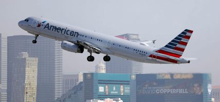 American Airlines vliegtuig Las Vegas McCarran Airport onrust