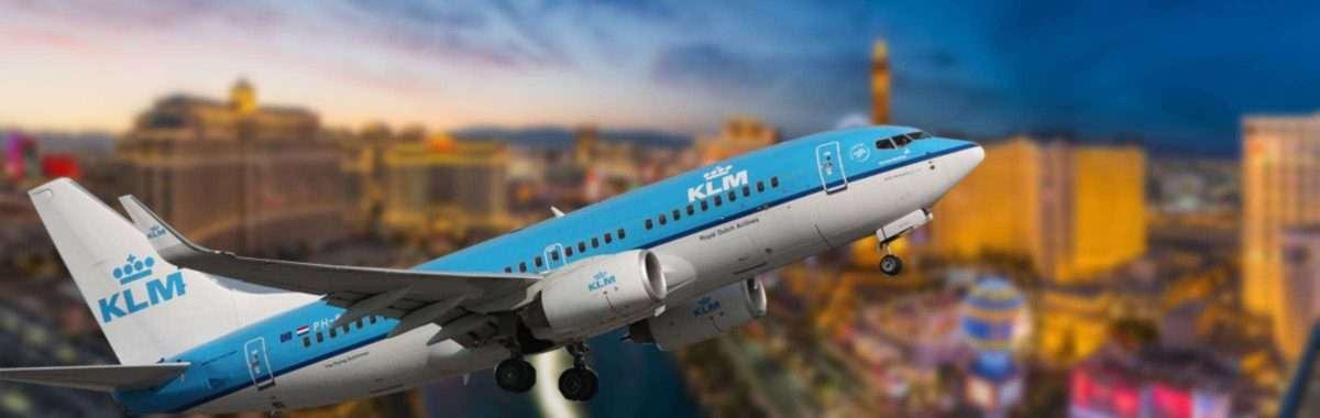 KLM vlucht Las Vegas vliegtuig inreisverbod Biden Amerika Verenigde Staten
