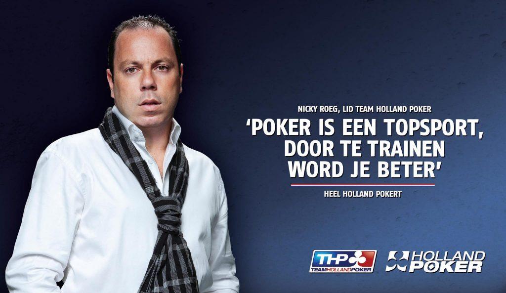 Nicky Roeg in de krant met poker is een topsport